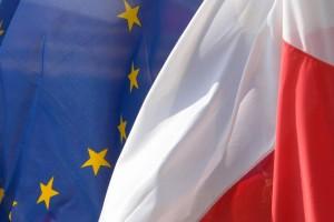 Polska UE flagi