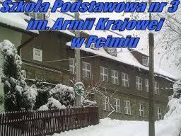 Zimowe zdjęcie szkoły wPcimiu - 18 stycznia