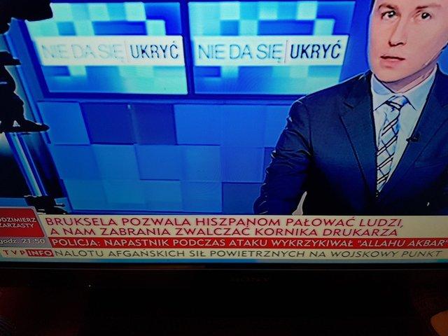 Zdumiewający pasek informacyjny wTVP Info. Chodzi oreferendum wKatalonii