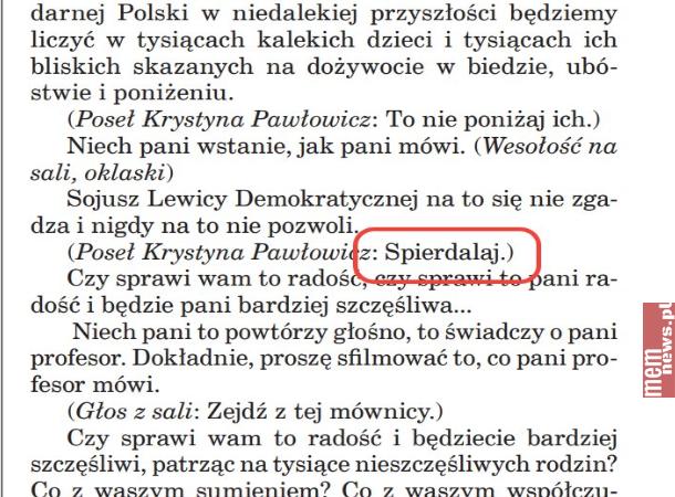 Węglarczyk: Pamiętajcie - jak was będą ciągać posądach zaprzeklinanie, powiedźcie, żecytujecie stenogram sejmowy