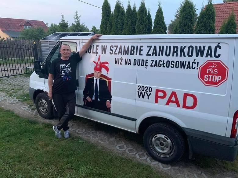 Sebastian Pawłowski zsamochodem, któryniespodobał się policji