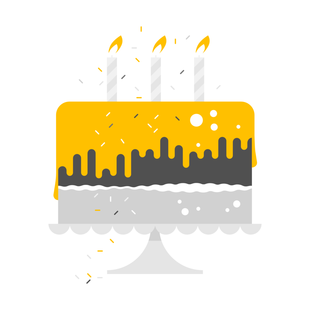 A cake with candles